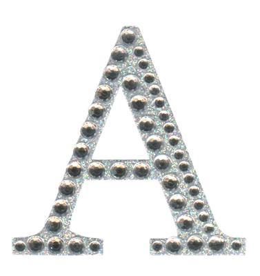 Eleganza Craft Stickers 50mm Letter A with Diamante Iridescent No.42 - Craft