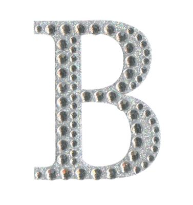 Eleganza Craft Stickers 50mm Letter B with Diamante Iridescent No.42 - Craft