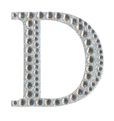Eleganza Craft Stickers 50mm Letter D with Diamante Iridescent No.42 - Craft