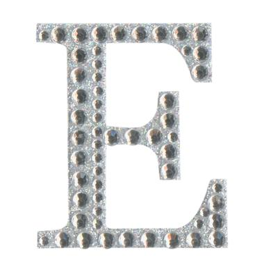 Eleganza Craft Stickers 50mm Letter E with Diamante Iridescent No.42 - Craft