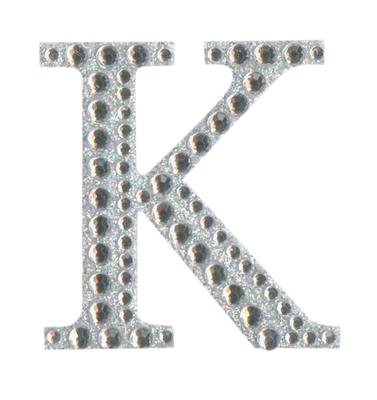 Eleganza Craft Stickers 50mm Letter K with Diamante Iridescent No.42 - Craft