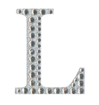 Eleganza Craft Stickers 50mm Letter L with Diamante Iridescent No.42 - Craft