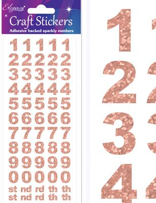 Eleganza Craft Stickers Bold Number Set Rose Gold No.87 - Craft