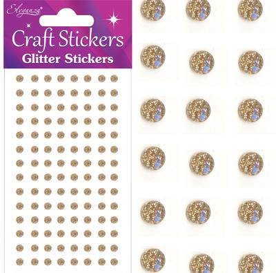 Eleganza Craft Stickers 4mm 112 Glitter gems Champagne No.64 - Craft