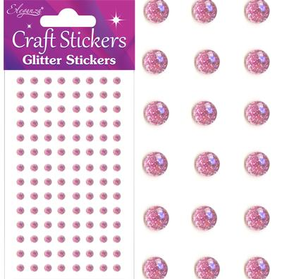 Eleganza Craft Stickers 4mm 112 Glitter gems Lt. Pink No.21 - Craft