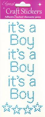 Eleganza Craft Stickers It's a Boy Pearl Blue No.25 - Craft