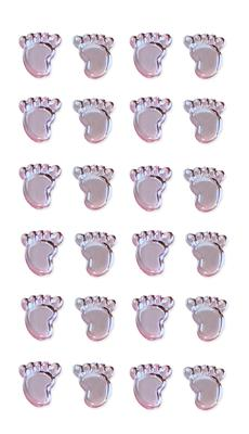Eleganza Craft Stickers Boy Footprints Pearl Blue No.25 - Craft