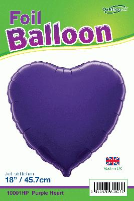 18inch Purple Heart Packaged - Foil Balloons