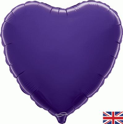 Purple Heart Unpackaged - Foil Balloons