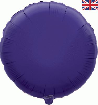 Purple Round Unpackaged - Foil Balloons
