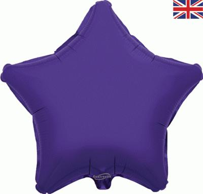 Purple Star Unpackaged - Foil Balloons