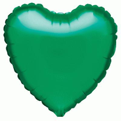 18inch Green Heart - Foil Balloons