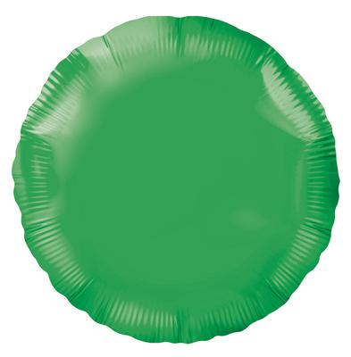 Green Round Unpackaged - Foil Balloons