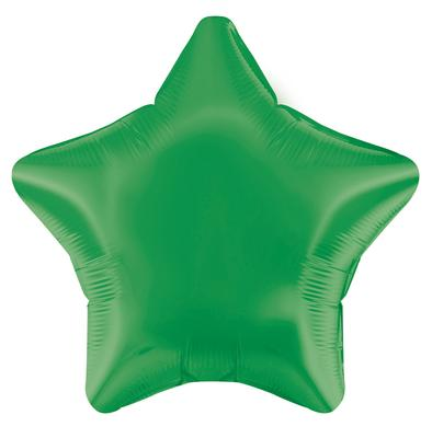 Green Star Unpackaged - Foil Balloons