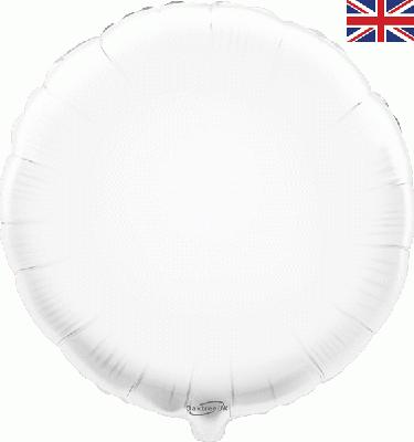 White Round Unpackaged - Foil Balloons