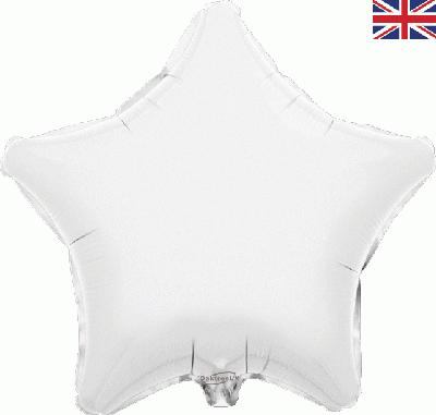 White Star Unpackaged - Foil Balloons