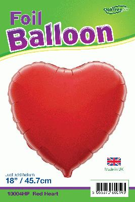 18inch Red Heart Packaged - Foil Balloons