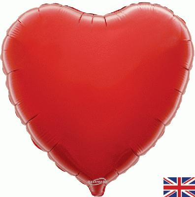 Red Heart Unpackaged - Foil Balloons