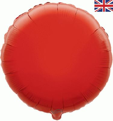Red Round Unpackaged - Foil Balloons