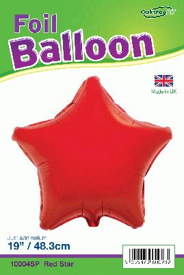 19inch Red Star Packaged - Foil Balloons
