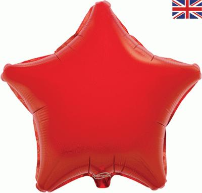 Red Star Unpackaged - Foil Balloons