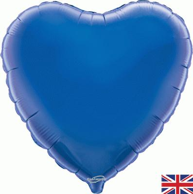 Blue Heart Unpackaged - Foil Balloons