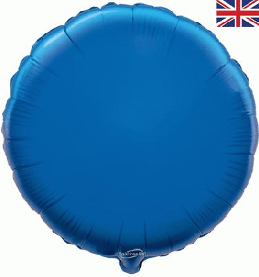 Blue Round Unpackaged - Foil Balloons