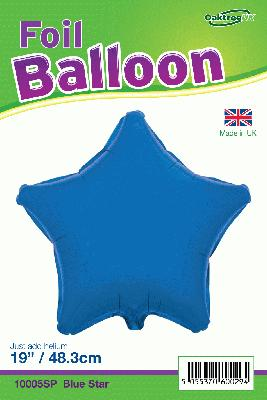 19inch Blue Star Packaged - Foil Balloons