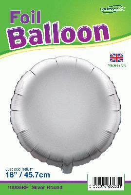 18inch Silver Round Packaged - Foil Balloons