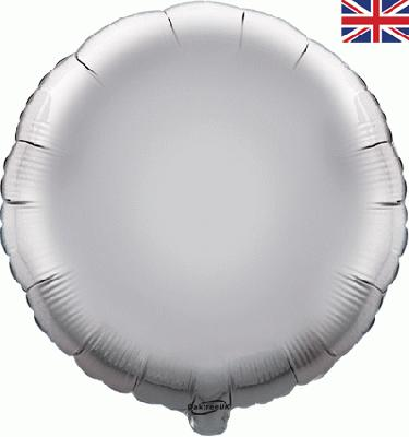 Silver Round Unpackaged - Foil Balloons