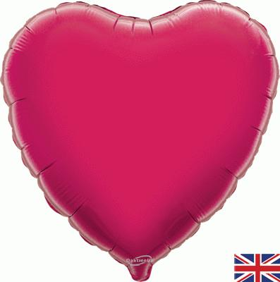 Fuchsia Heart Unpackaged - Foil Balloons