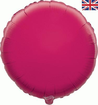 Fuchsia Round Unpackaged - Foil Balloons