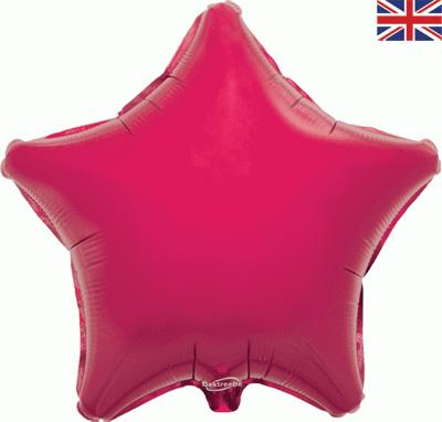 Fuchsia Star Unpackaged - Foil Balloons
