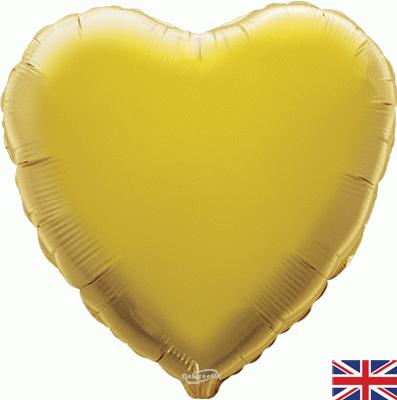 Gold Heart Unpackaged - Foil Balloons