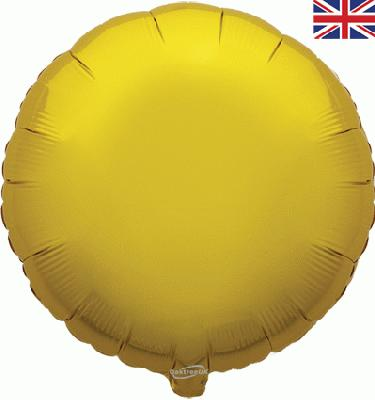 Gold Round Unpackaged - Foil Balloons