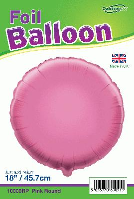 18inch Pink Round Packaged - Foil Balloons