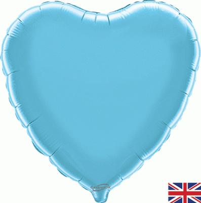 Light Blue Heart Unpackaged - Foil Balloons