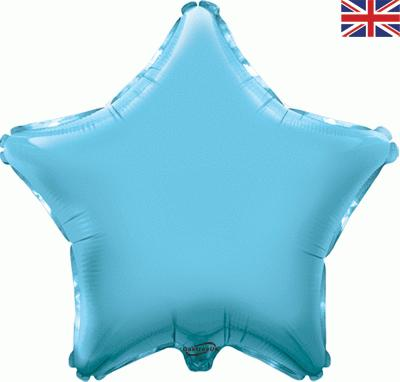 Light Blue Star Unpackaged - Foil Balloons