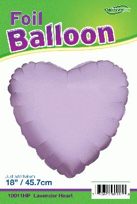 18inch Lavender Heart Packaged - Foil Balloons