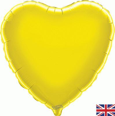 Yellow Heart Unpackaged - Foil Balloons