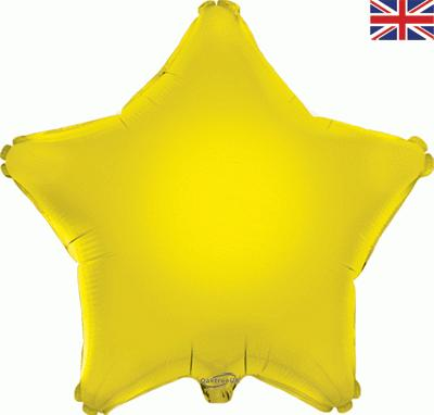 Yellow Star Unpackaged - Foil Balloons