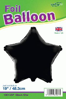 19inch Black Star Packaged - Foil Balloons