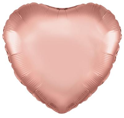 Rose Gold Heart Unpackaged - Foil Balloons