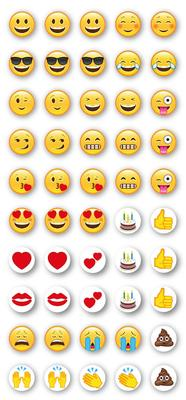 Emoji Stickers - 10mm diameter - Craft