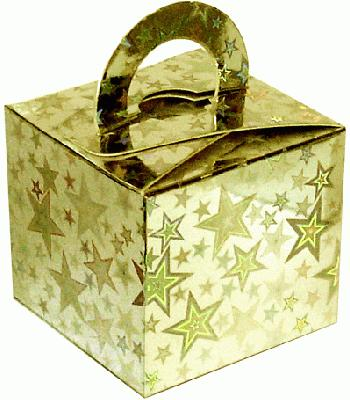 Balloon/Gift Box Gold Holographic Star x10pcs - Accessories