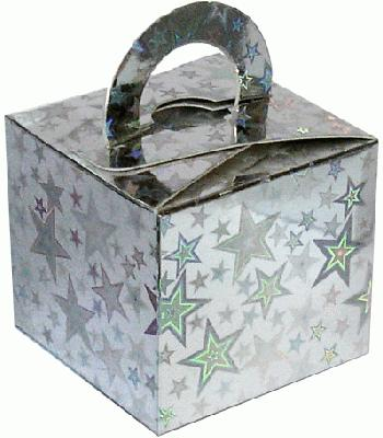 Balloon/Gift Box Silver Holographic Star x10pcs - Accessories