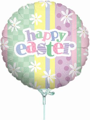 Pastel Easter Stripes 9inch Air Filled - Seasonal