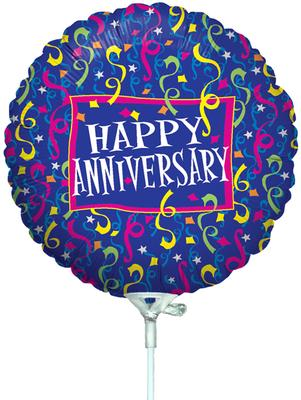 Betallic 9inch Anniversary Party (Flat) - Foil Balloons