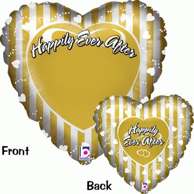 Happily Ever After Gold & Silver - Foil Balloons
