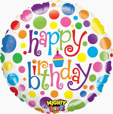 Mighty Colourful Bday - Foil Balloons